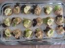 Finger Food Gemüseterrine und Krabben